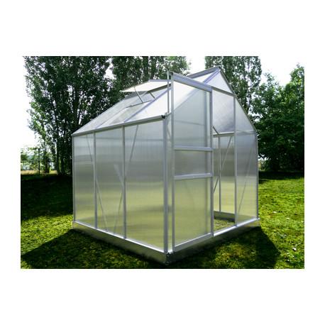 Serre de jardin en polycarbonate 3,6 m² Gris – 190 x 190 x 195 cm