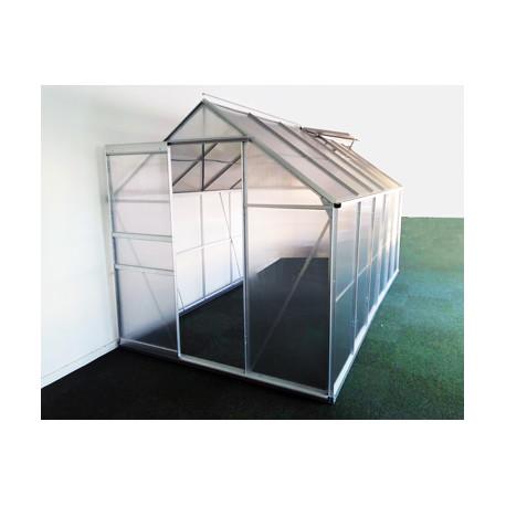 Serre de jardin en polycarbonate 8,2 m² Gris – 190 x 430 x 195 cm