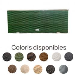 Jardinière en résine tressée rectangulaire avec cadre en aluminium – 108 x 39 x 43 cm – Disponible en 11 coloris