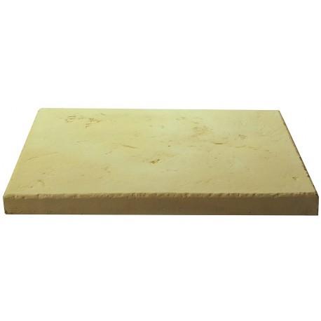 Dalle de terrasse en pierre reconstituée ep. 4 cm Camel, module de 1,15 m2