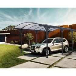 Abri de voiture Couv'Voiture en aluminium – 508 x 302 x 200 cm - Toiture en polycarbonate