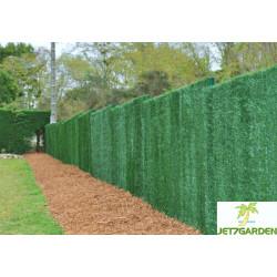 Haie végétale artificielle de jardin en PVC 147 brins 300 x 180 cm