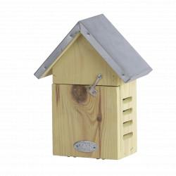 Abri pour coccinelles en bois FSC 100 % et toiture en zinc – 10,1 x 17,4 x 22,8 cm
