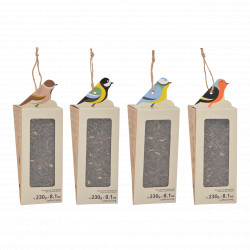 Mangeoire Silo pour Oiseaux avec graines de tournesol – 8,1 x 8,2 x 23,7 cm