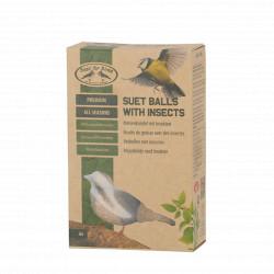 Boite de boules de graisse avec insectes 4 saisons pour oiseaux – 520 g