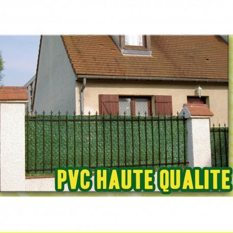 Haie artificielle PVC thuya 1x 3 ml en situation