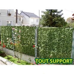 Haie artificielle de jardin en plaque PVC sapin 50 x 50 cm