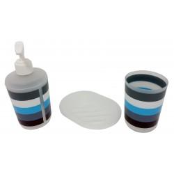 Accessoires de salle de bain tricolore