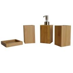 Accessoires de salle de bain en bambou