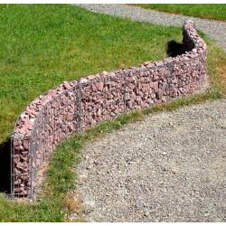 Muret de jardin en gabion 20 cm sans galet