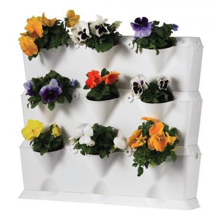 Jardinière Plastique Mur Végétal Mini-Garden Blanc