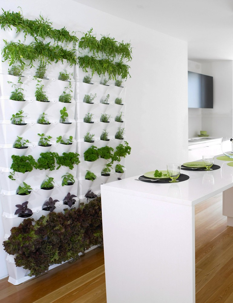 mur v g tal mini garden blanc. Black Bedroom Furniture Sets. Home Design Ideas