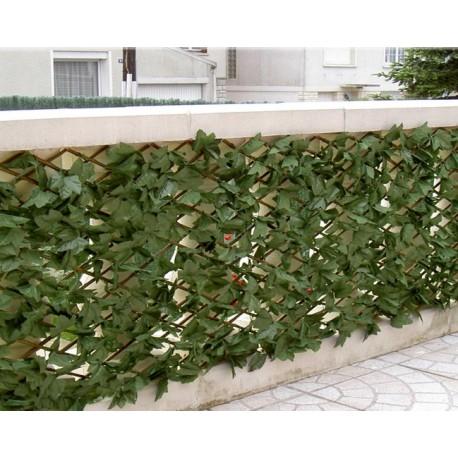 Haie artificielle de jardin en PVC lierre 200 x 100 cm