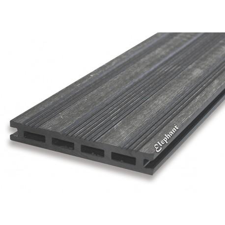 Lame de terrasse en bois composite grise 225 x 14,5 x 2,1 cm