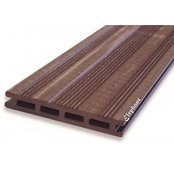 Lame de terrasse en bois composite marron 225 x 14,5 x 2,1 cm
