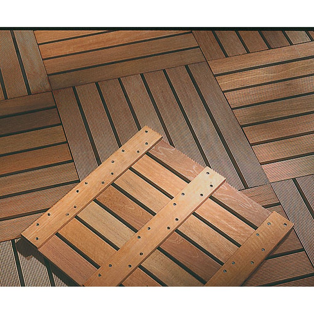 Dalle terrasse bois exotique 50 ep 24 mm for Terrasse en dalle bois