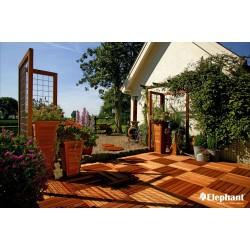 Dalle de terrasse en bois exotique Bangkiraï 50 x 50 x 2,2 cm