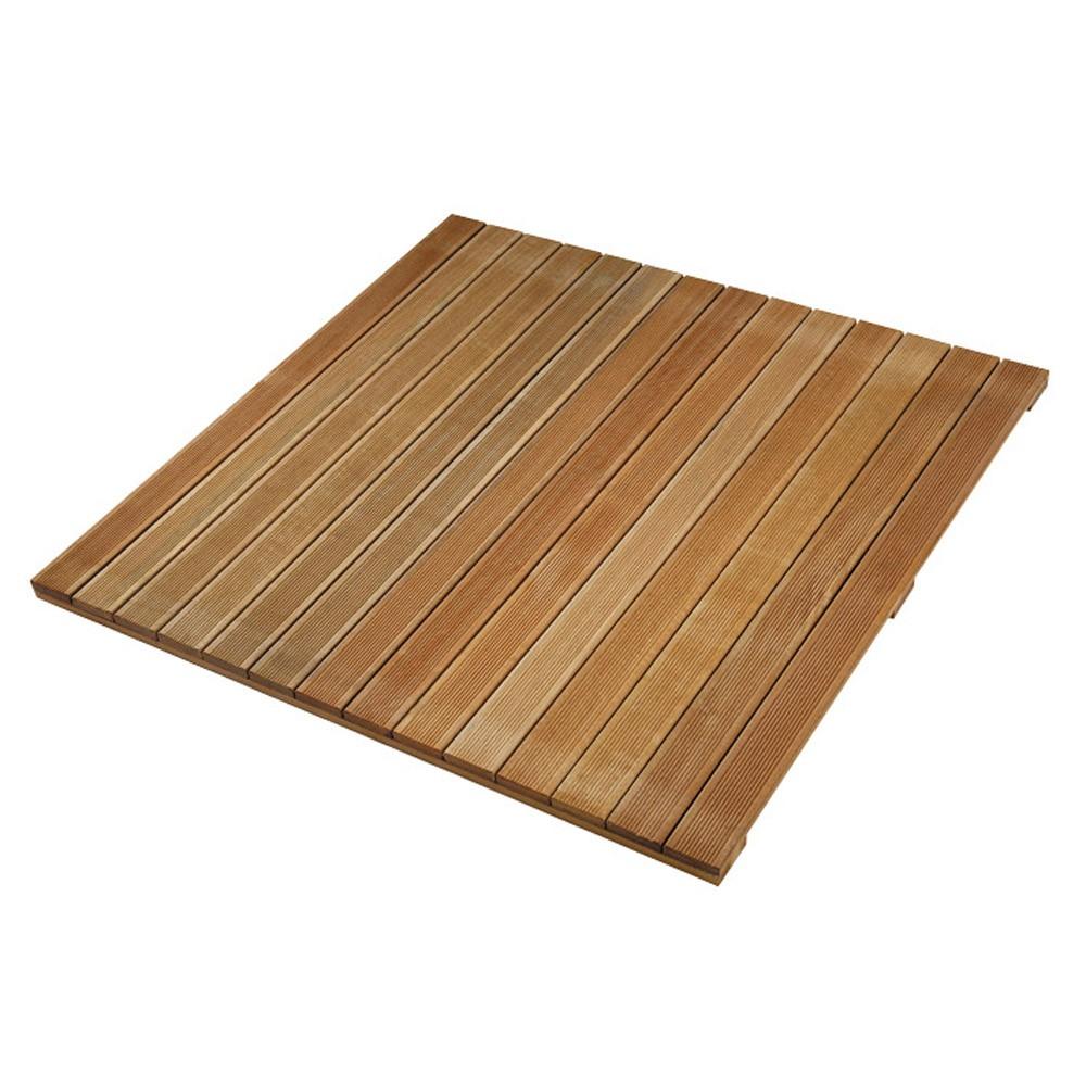 Dalle En Bois Jardin dalle de terrasse en bois exotique bangkiraï 100 x 100 x 2,4 cm