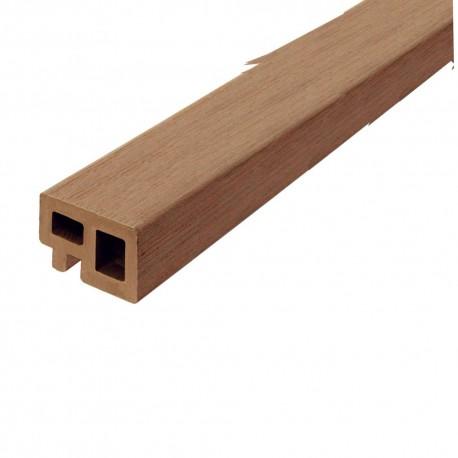 Lambourde de terrasse en bois composite marron 225 x 5 x 3 cm