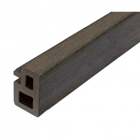 Lambourde de terrasse en bois composite grise 225 x 5 x 3 cm