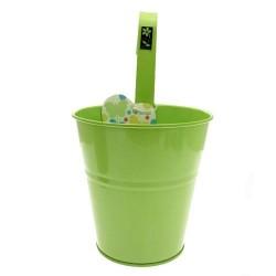Cache-Pot en métal conique vert anis 13 x 13 x 12 cm