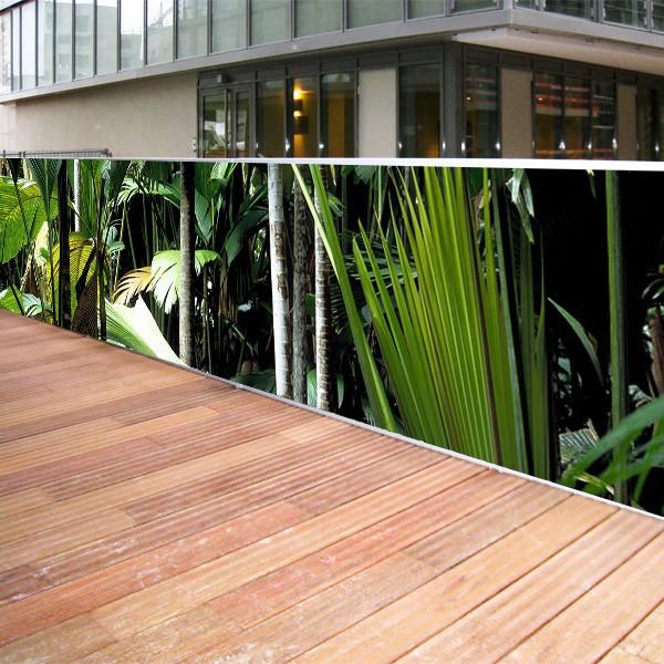 Brise vue de jardin en polyester d cor jungle 300 x 80 cm - Vue de jardin ...