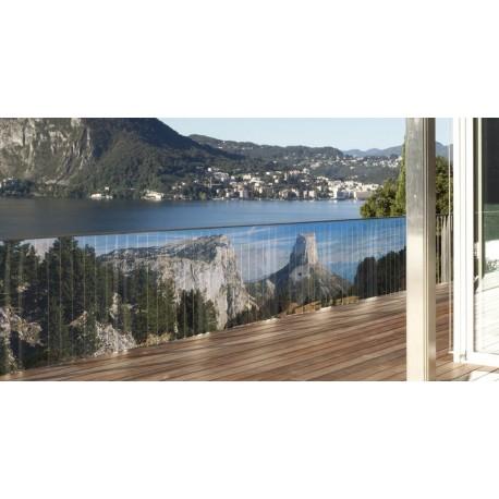 Brise vue de jardin en polyester décor Mont Aiguille 300 x 80 cm
