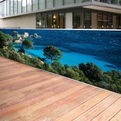 Brise vue de jardin en polyester décor Tamaricio 300 x 80 cm