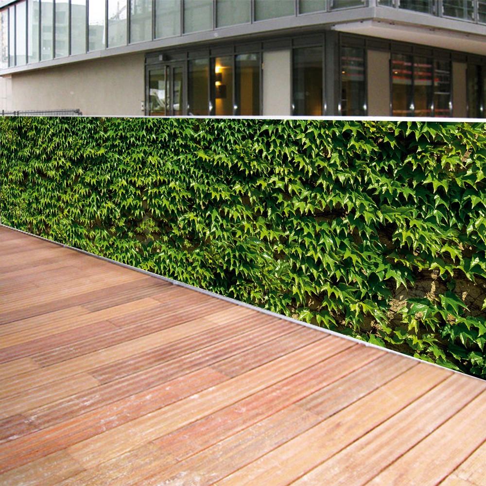 Brise vue de jardin en polyester décor Vigne Vierge 300 x 80 cm
