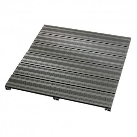 Dalle de terrasse en bois composite 90 x 90 x 5 cm gris anthracite