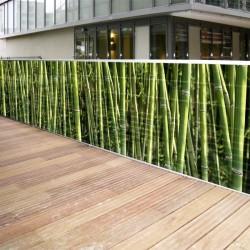 Brise vue en toile bambous 1 x 5 ml en situation