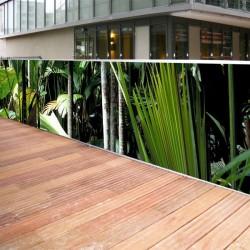 Brise vue de jardin en polyester décor Jungle 500 x 100 cm