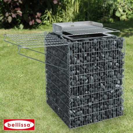 Barbecue Gabion Avec Galets
