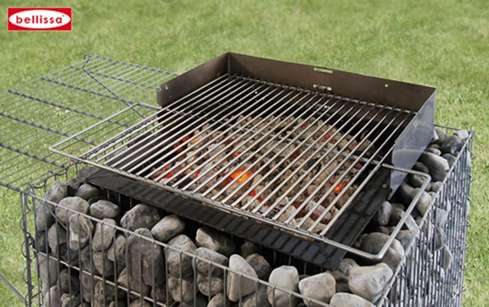 Barbecue gabion avec galets - Galet pour gabion ...