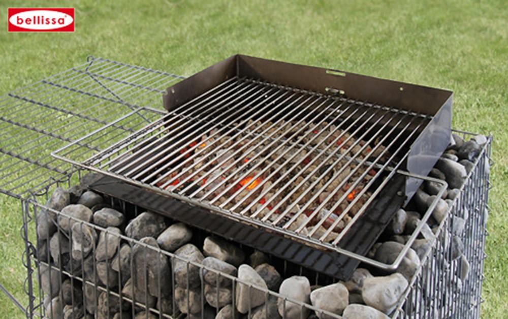 barbecue gabion avec galets. Black Bedroom Furniture Sets. Home Design Ideas