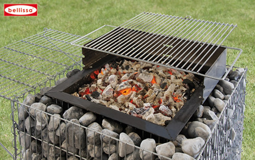 barbecue gabion avec galets. Black Bedroom Furniture Sets. Home Design Ideas