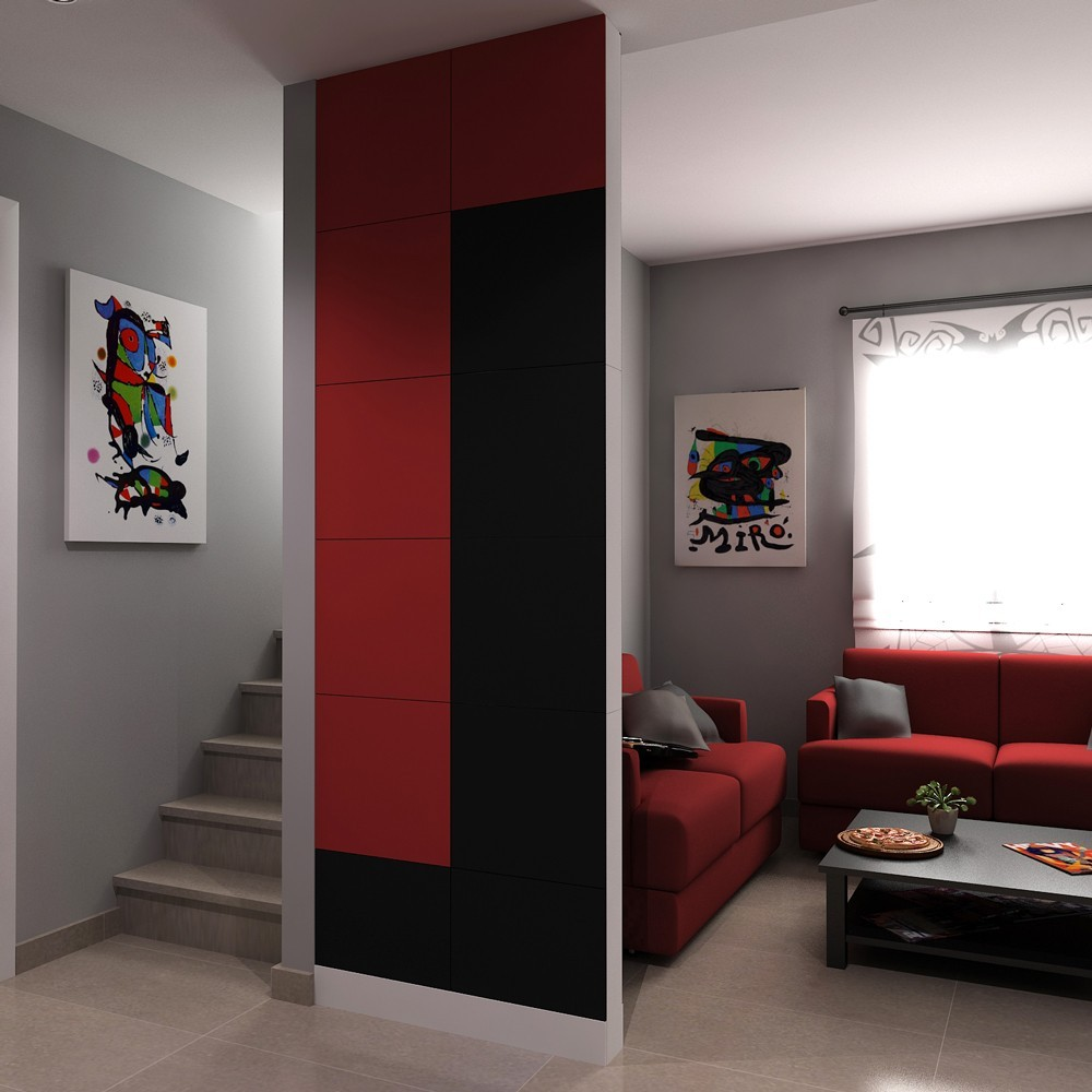 cloison amovible bicolore. Black Bedroom Furniture Sets. Home Design Ideas