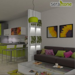 Cloison amovible jardin LED