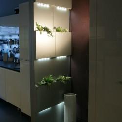 Cloison amovible Serastone verre jardins et LED 280