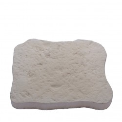 Pas japonais en pierre reconstituée bouchardée blanc