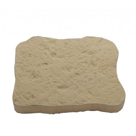 Pas japonais en pierre reconstituée bouchardée camel de face
