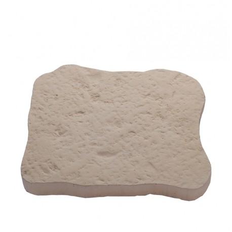 Pas japonais en pierre reconstituée bouchardée ocre de face