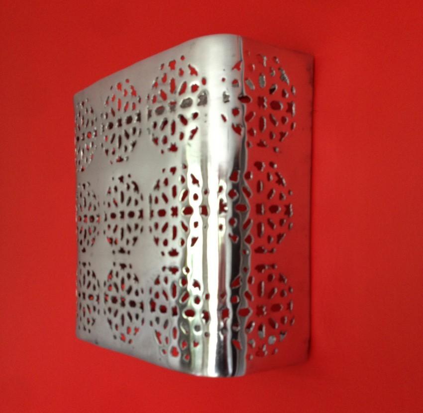 Applique murale design carr e en aluminium 30 x 30 cm - Applique bougie murale ...