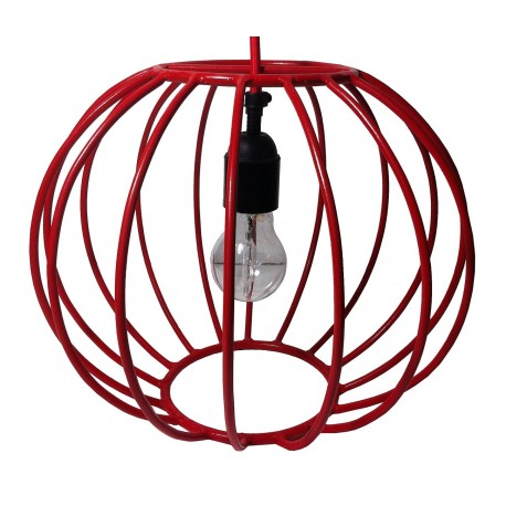 Suspension déco en fer 31 cm rouge