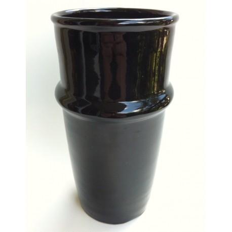 Vase céramique Beldi noir de 20 cm