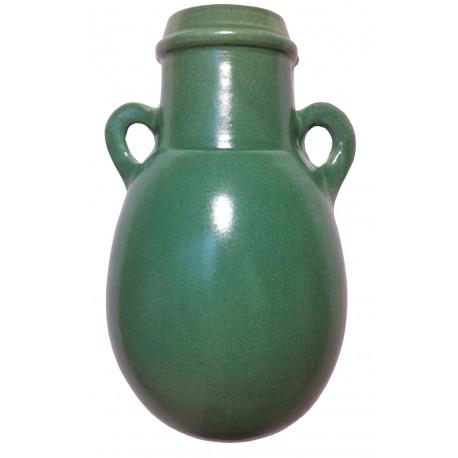 Vase céramique à mur avec anses 35 cm vert
