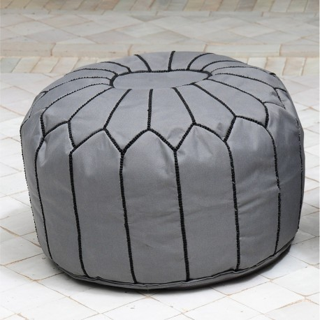 Pouf design gris et noir