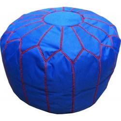 Pouf design bleu et rouge