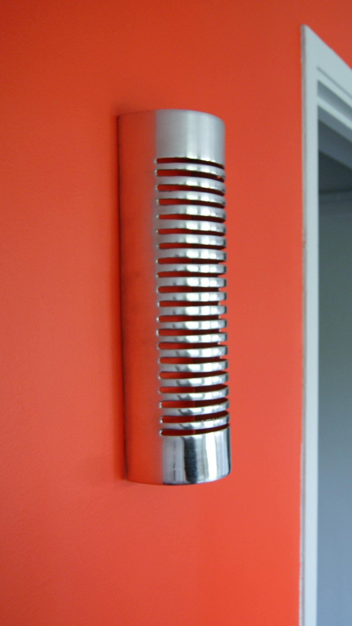 Applique murale en aluminium design ronde 38 x 12 cm for Applique murale exterieure ronde