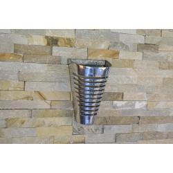 Applique murale design conique en aluminium 20 x 13 cm